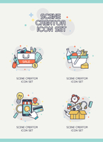 Creator icon set
